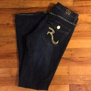 Rock & Republic Gold Studded Jeans